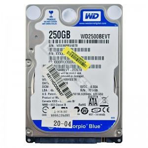 "WD WD2500BEVT 250GB SATA 2,5"" használt laptop winchester"