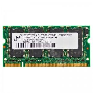 Micron 256MB DDR 333MHz notebook memória (MT8VDDT3264HG)