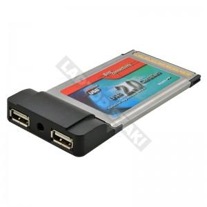 FG-CU2102-2-B1 használt PCMCIA USB 2.0 bővítőkártya
