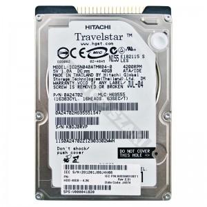 """Hitachi ICS25N040ATMR04-0 40GB 2,5"""" IDE használt laptop winchester"""