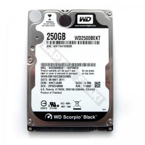 """WD WD2500BEKT 250GB SATA 2,5"""" használt laptop winchester"""
