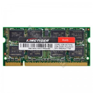 Kingtiger 2GB DDR2 667MHz notebook memória (M9DA3C1765)