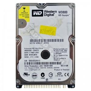 """WD WD800UE 80GB IDE 2,5"""" használt laptop winchester"""