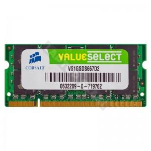 Corsair 1GB DDR2 667MHz notebook memória (VS1GSDS667D2)