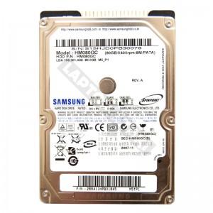 """Samsung HM080GC 80GB IDE 2,5"""" használt laptop winchester"""