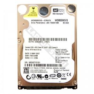 "WD WD800BEVS 80GB SATA 2,5"" használt laptop winchester"