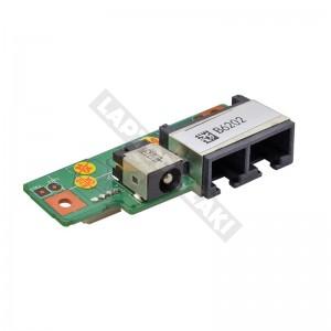 MS-1037A használt LAN + modem + DC tápcsatlakozó panel