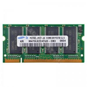 Samsung 512MB DDR 333Mhz használt notebook memória (M470L6524CUO-CB3)