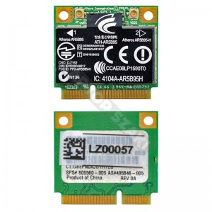 Atheros AR5B95 802.11b/g/n mini PCI-E wifi kártya