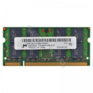 Micron 4GB DDR2 800Mhz notebook memória (MT16HTF51264HZ-800C1)
