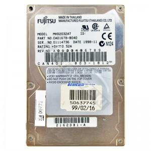 "Fujitsu MHD2032AT 3250MB IDE 2,5"" használt laptop winchester"