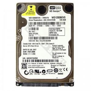 "WD WD1200BEVS 120GB SATA 2,5"" használt laptop winchester"