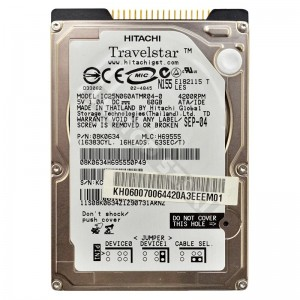"Hitachi HTS541060G9AT00 60GB IDE 2,5"" használt laptop winchester"
