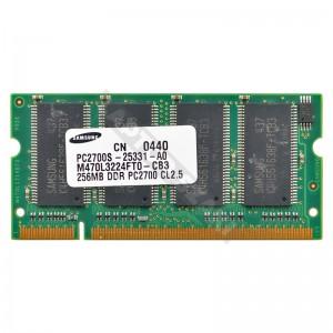 Samsung 256MB DDR 333MHz laptop memória (M470L3224FT0-CB3)
