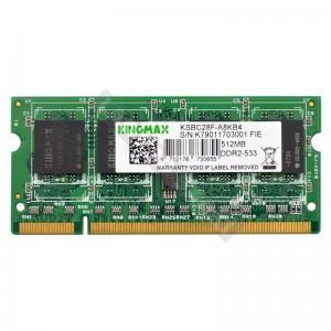 Kingmax 512MB DDR2 533MHz notebook memória (KSBC28F-A8KB4)