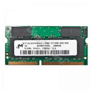 Micron 512MB SD 133MHz notebook memória
