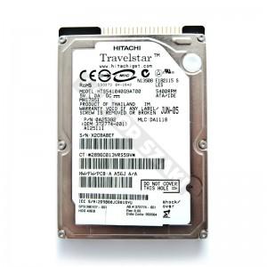 "Hitachi HTS541040G9AT00 40GB 2,5"" IDE használt laptop winchester"