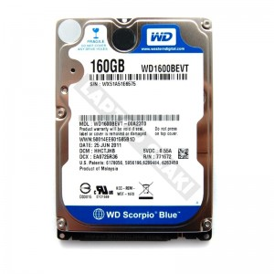 "WD WD1600BEVT 160GB SATA 2,5"" használt laptop winchester"