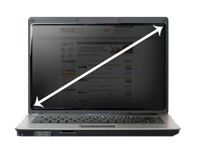 Laptop kijelző átmérők